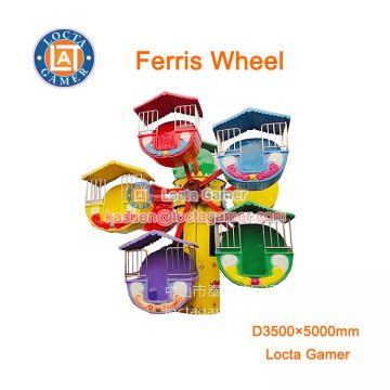 Zhongshan amusement Ferris wheel sky wheel mini kiddie ridesfunfair rides for sale