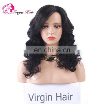 Hot Selling Factory Price Undetectable Natural Hairline super wave human hair lace front wig