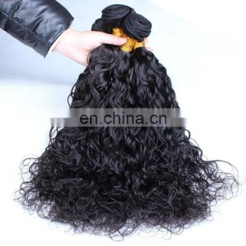 Wholesale high quality human hair extension water wave virgin brazilian hair