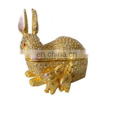 come into gift box golden rabbit metal craft box for new year gifts