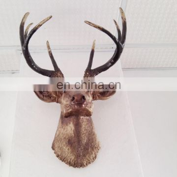 lifesize resin deer animal head sculpture for home decoration