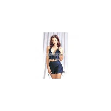 Leather Halter and Shorts CW-228