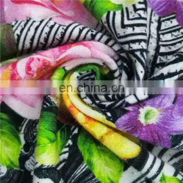 lot stock cotton print printed knit fabric for children