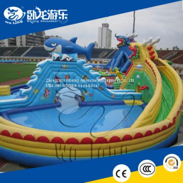 kids water play equipment ,swimming pool slide , project water playground