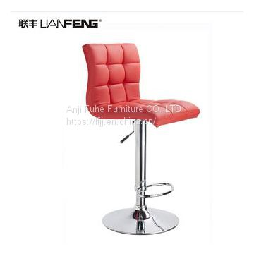 Lianfeng commercial bar chair adjustable height optional color Leather bar stool