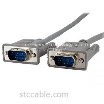 6 ft Monitor VGA Cable – HD15 male to male