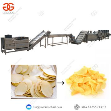 Potato Chips Production Line Automatic Industrial Potato Chips Making Machinery