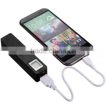 Factory direct sale portable square power bank 26000mah with led display