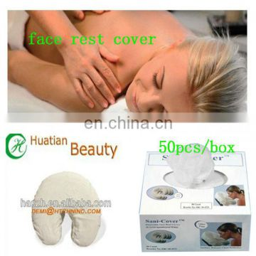 disposable face cradle cover for massage bed, PP face rest cover for spa ,spunlace disposable face rest cover