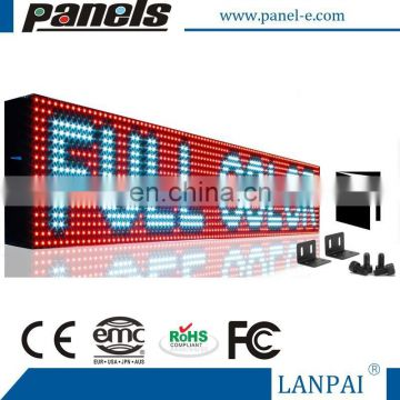 Outdoor LED Sign Programmable Scrolling Message Display Board Open
