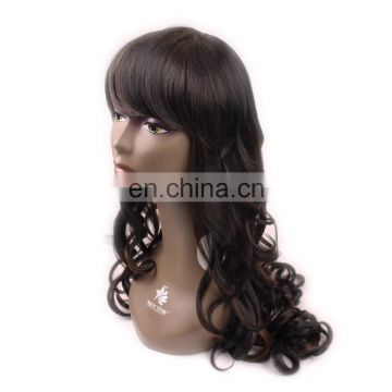 alibaba express Fashionable lone wavy Synthetic beyonce hair Wig for black women