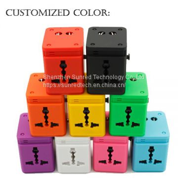 Classical Travel Adatper Charger adapter customize color/logo universal adaptor