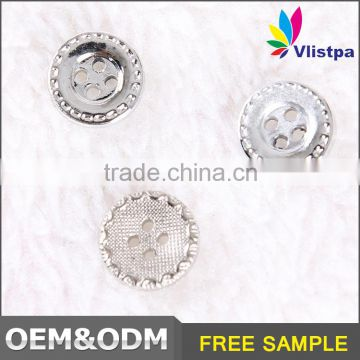Free sample ! Factory price silver plating simple design Plastic 4 hole button