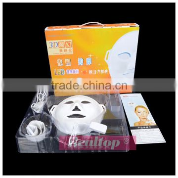 Led Light Skin Therapy 3D Vibration Photon LED Facial Mask Skin Rejuvenation Machine With Pdt Led Light Therapy For Wrinkle Removal And Tightening Led Light Therapy Home Devices