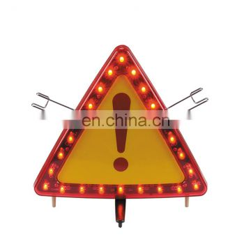 Hot-selling flashing car warning triangle with LED light