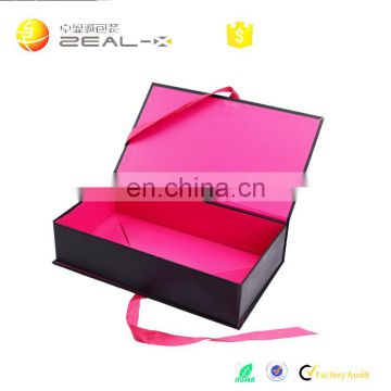 Quick Turn Around Time Ensured Quality Ribbon Folding Clothing Custom Boxes with Logo