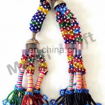 Kuchi tribal beaded tassels -Bulk Afghani Tassels-Bohemian Wall hanging- Door hanging - Belly Dance Tassels