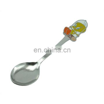 Custom metal shiny spoon with different pattern