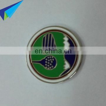 2016 2 sided embossed logo metal golf ball markers