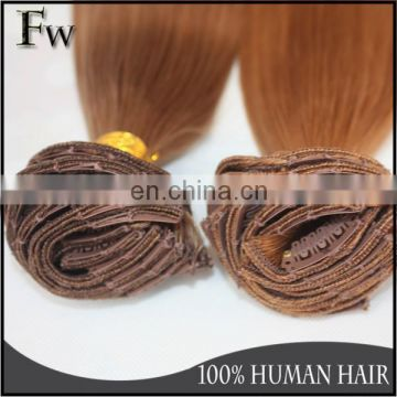Cheap Brazilian cilp in hair extension,remy virgin human hair 100%