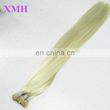 Indian Pre-Bonded I Tip Hair Extensions Straight Stick Keratin Human Hair Extensions