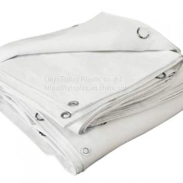 White tarps Heavy duty 200gsm double-side water-proof covers high tear-resistance high tensile strength