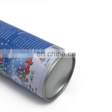 high quality empty aerosol metal tin can for spray snow & party foam with manufactory price