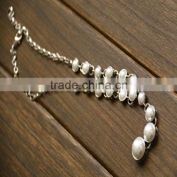 Fashion Pearl Necklace Jewelry 2016 Popular Necklace Sets with Earring Bracelet Jewelry Sets