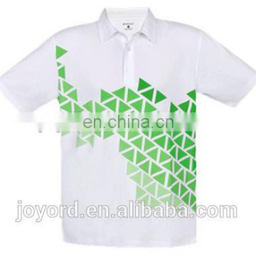 Wholesale dry fit printed uniform golf shirt