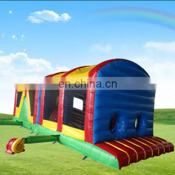 33 ft enclosed inflatable obstacle course conforming to EN 14960