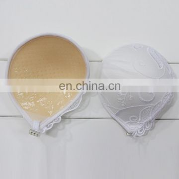 ES6627 Golden Wholesale Fashion Sexy Lace Invisible Push up Silicone Free Bra