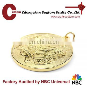 Promotional new products expert factory custom engraved logo gold honor eagle medal