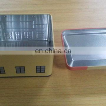 Popular house shaped tin container for cosmetic