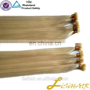 Wholesale Alibaba Chinese Supplier Cuticle Aligned Virgin Hair Flat Tip Hair Extension