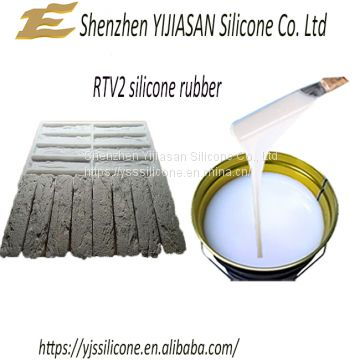 White RTV-2 liquid silicone rubber for concrete molds