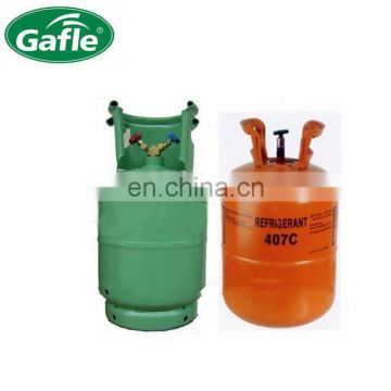 buy r407c refrigerant gas 11.3kg 25lb CE cylinder by professional factory