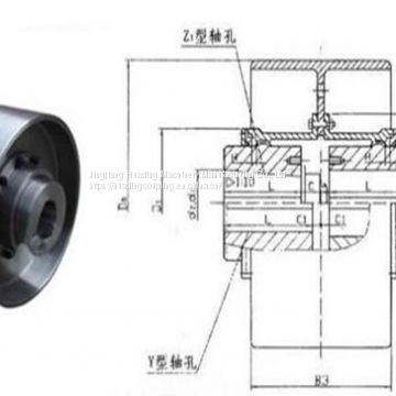 NGCL Drum Gear Coupling With Brake Wheel,Drum Gear Coupling