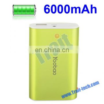 Aluminium Alloy Shell Portable Universal 6000mAh External Battery Charger Mobile Power Bank for Smart Phone