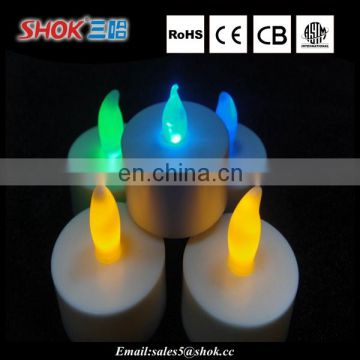 Novelty custom multi-color led candle, birthday candle