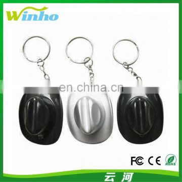Winho Various Colors Mini Cowboy Hat LED Keychain