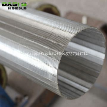 stainless steel V wire wrapped slot sand screen pipe for water well drill