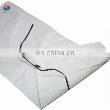 Customized 50bls white pp woven sandbags