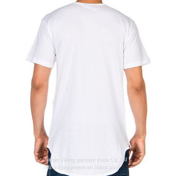 China Wholesale Custom Cotton Funny Plain White Bamboo fitted t shirts for men