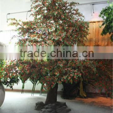 Home garden decoration 100cm to 1000cm Height artificial indoor live plastic ficus red with green big pine tree EZLS05 1014