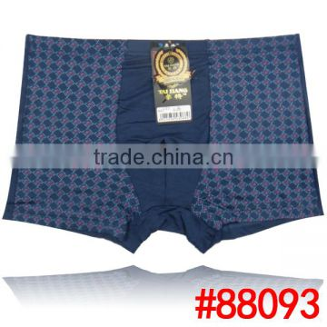 Printed grid fashion men underwear factory price wholesale stock bamboo fiber men boxer briefs