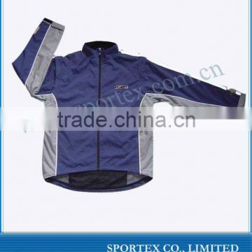 2012 Long Sleeve Custom Cycling Jacket with rubber logo