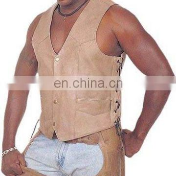 Gents Leather Vest Art No: 1321