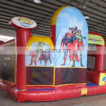 ACE inflatables wholesale inflatable super hero combo, have passed SGS/EN14960