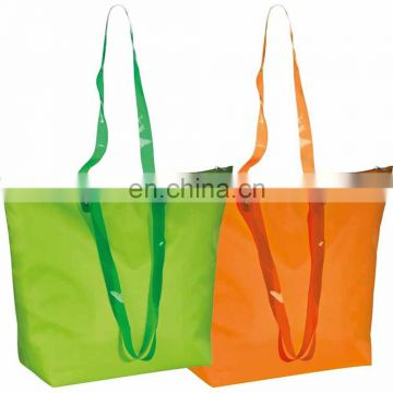 good quality nylon grocery tote shopping bag with exterior zipper pocket BAG061