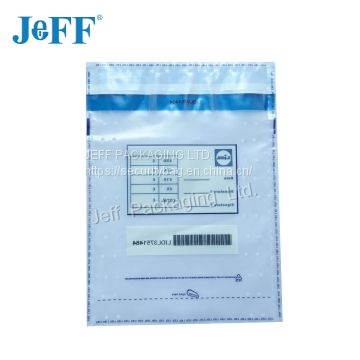 China OEM printed plastic tamper evident bag/ loose change bag for shop